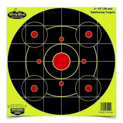 "Birchwood Casey Birchwood Casey Dirty Bird Splatting Targets 12""x12"" (25-Pack)"