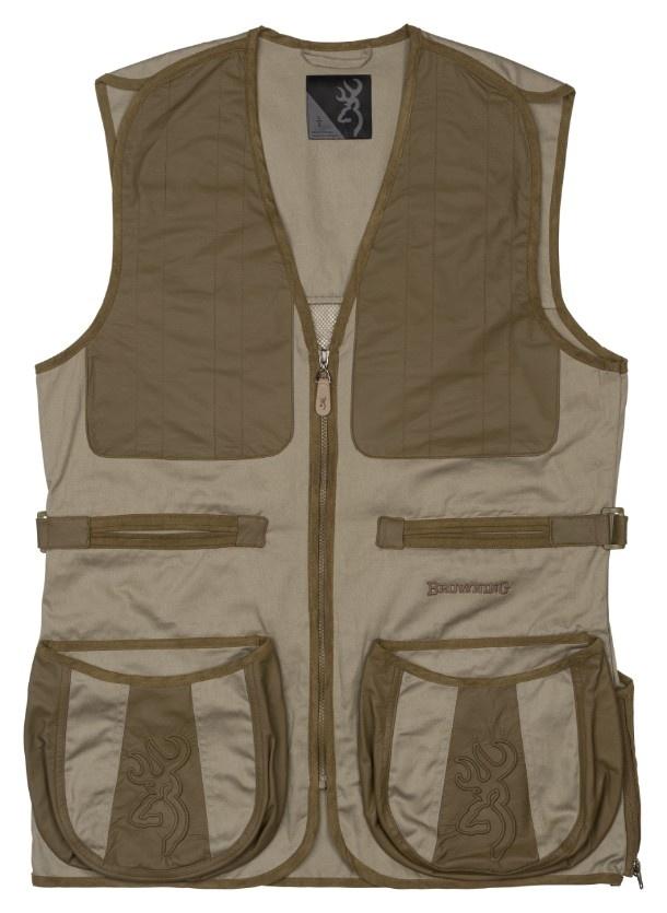 Browning Browning Dutton Shooting Vest Reactar G3  Pad Pocket 2XL (Brackish/Mil Green)