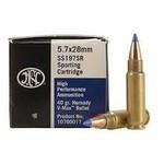 FNH 5.7x28mm High Performance Ammunition 40 Grain Hornady V-Max 50 Cartridges