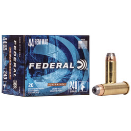 Federal Federal Power Shock 44 Rem Mag, 240 Grain, JHP (20 Rounds)