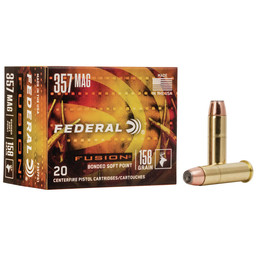 Federal Fusion 357 Mag, 158 Grain Bonded Soft Point (20 Rounds)
