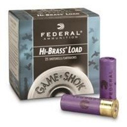 Federal Federal Game-Shok Hi-Brass Shotgun Shells (25-Rounds)