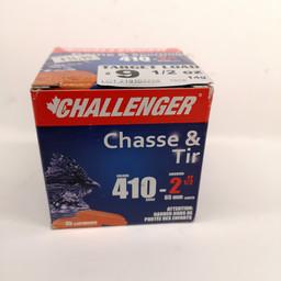 "Challenger Challenger High Velocity Target Loads .410 Gauge 2 1/2"" Shot #9 (25-Rounds)"