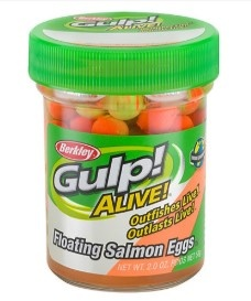 Berkley Gulp Alive Floating Salmon Eggs Orange Comet 58g
