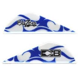 """Bohning 2"""" Blazer Vane Blue/White Flame (Individually Sold)"""