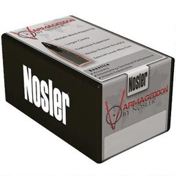 "Nosler Nosler Varmageddon .20 Caliber .204"" Diameter 32 Grain Hollow Point Metallic Black Tip Flat Base"