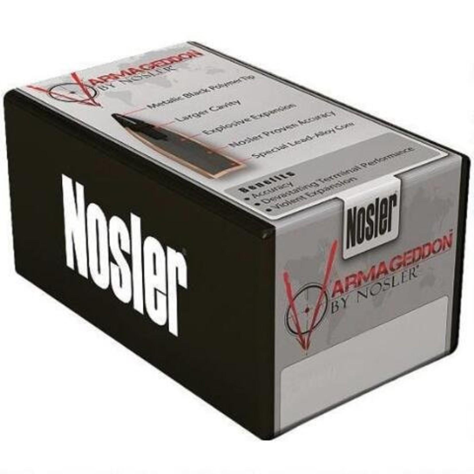 "Nosler Varmageddon .20 Caliber .204"" Diameter 32 Grain Hollow Point Flat Base Projectile"