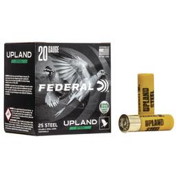 """Federal Federal Upland 20 Gauge, 2 3/4"""", 3/4oz, #7 1/2 Shot, (25 Rounds)Steel"""