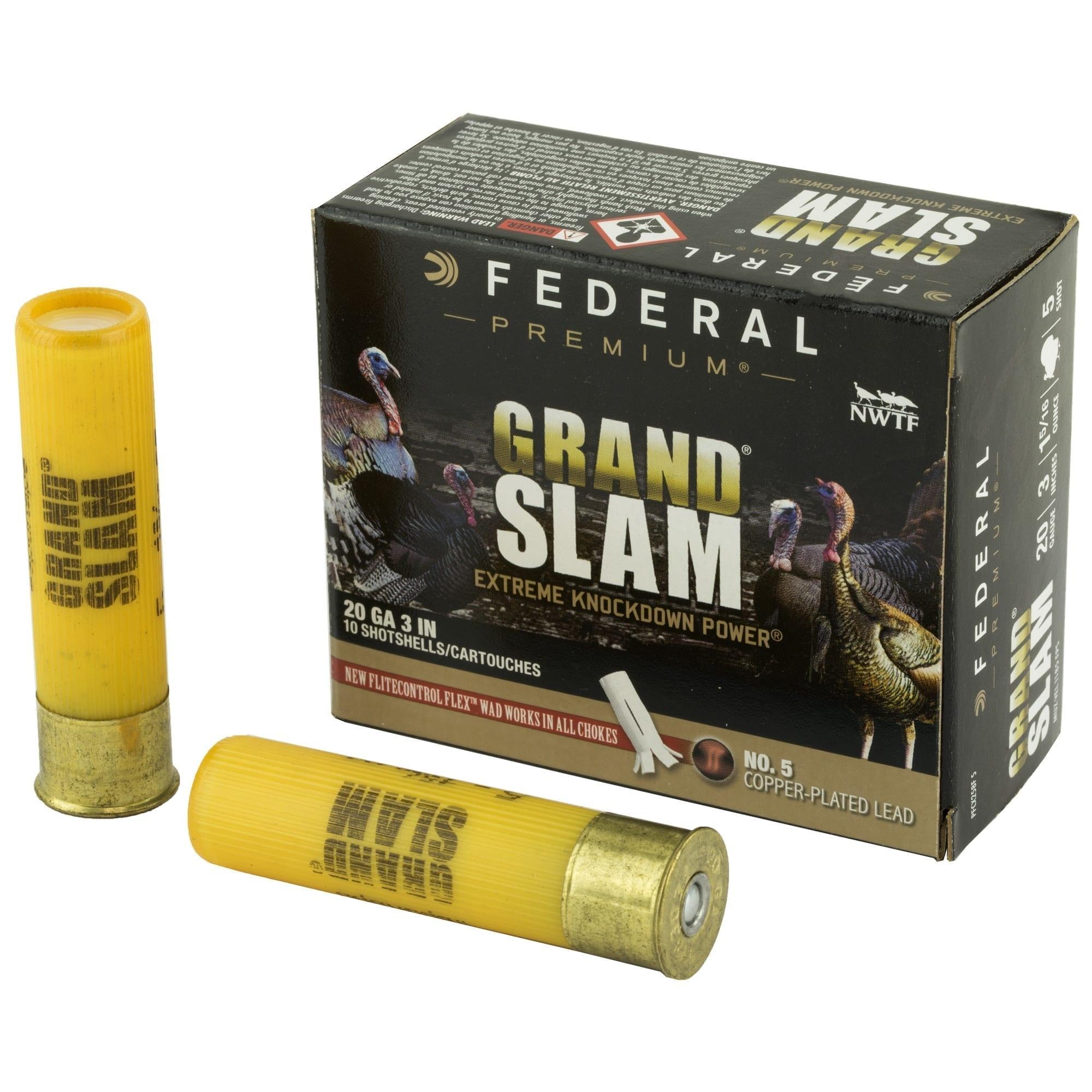 """Federal Premium Federal Premium Grand Slam 20 Gauge 3"""" #5 Shot"""
