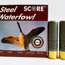 "Score Ammunition Score Ammunition 12 Gauge 3"" 1 1/8 Oz Steel Waterfowl Loads (250 Rounds)"