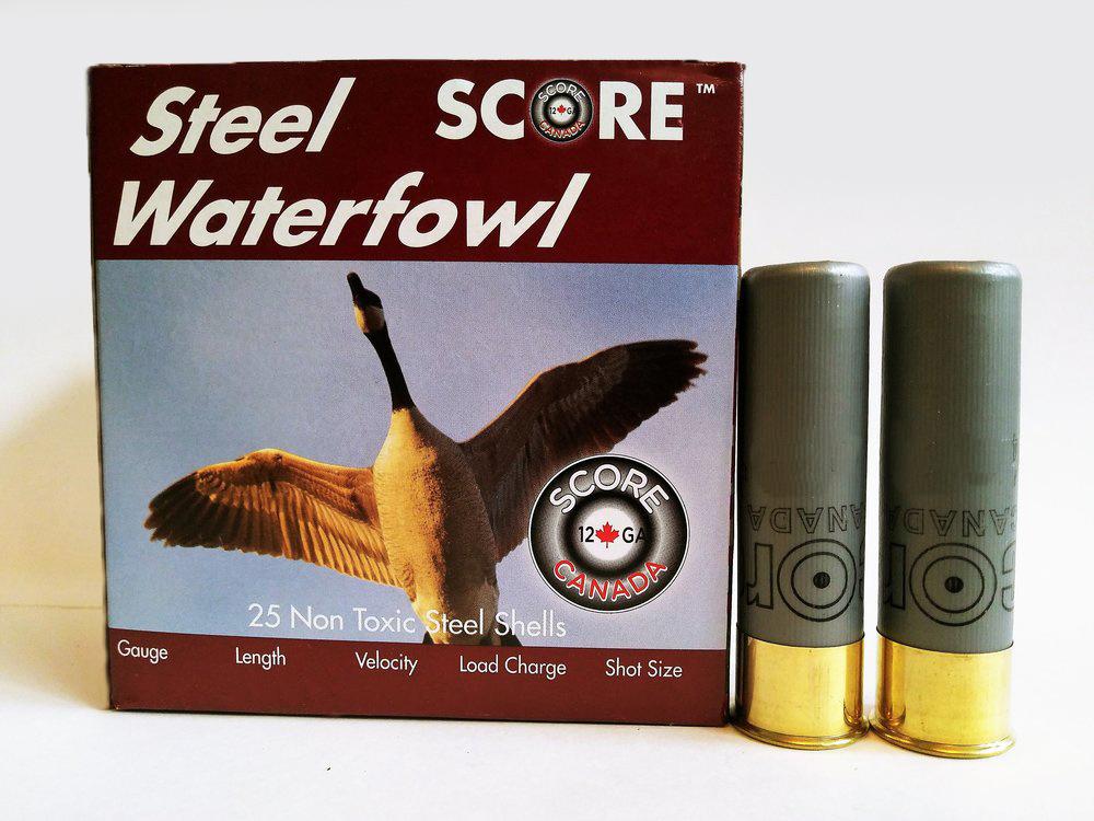 "Score Ammunition Score Ammunition 12 Gauge 3"" 1 1/8oz Steel Waterfowl Loads (250 Rounds)"
