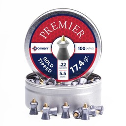 Crosman Premier Gold Tipped GTP22 .22 (100 Pellets)
