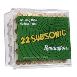 Remington Remington .22LR Subsonic 38 Grain Hollow Point 100 Cartridges