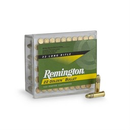 Remington Remington 22 LR Golden Bullets 40 Grain Plated Round Nose 100 Cartridges