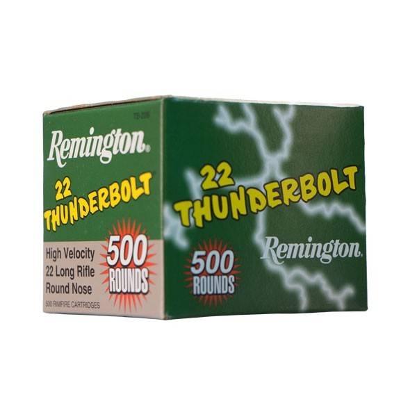 Remington Remington 22 LR Thunderbolt High Velocity 40 Grain Round Nose 500 Cartridges (Loose)