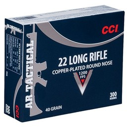 CCI CCI .22LR AR Tactical 40 Grain Copper-Plated Round Nose (300-Cartridges)