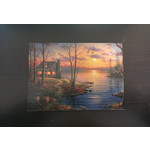 Imagimex Greeting Cards Cabin At Sunset