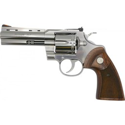 "Colt Python 357 Mag Stainless 4.25"" Barrel Wood Grips"