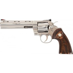 "Colt Python 357 Mag, Stainless Steel 6"" Barrel, Wood Grips"