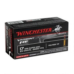 Winchester Winchester Varmint HE .17 WSM 25 Grain Poly Tip (50 Rounds)