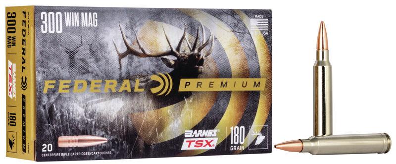 Federal Premium Federal Premium 300 Win Mag Barnes TSX 180 Grain