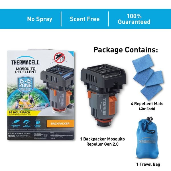 Thermacell Mosquito Area Repellent 4.5m x 4.5m Zone Backpacker