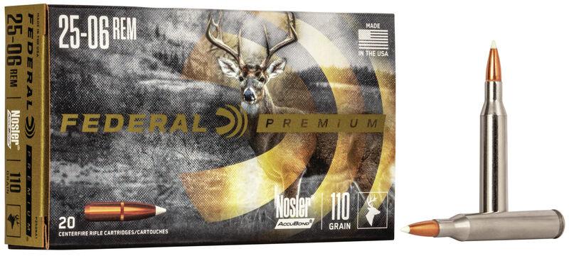 Federal Premium Federal Premium 25-06Rem 110 Grain Nosler Accubond Medium Game