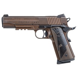 "Sig Sauer Spartan 2 II 1911 45 ACP 5"" Barrel Distressed Coyote Single Action Only 2 8-Round Magazines"
