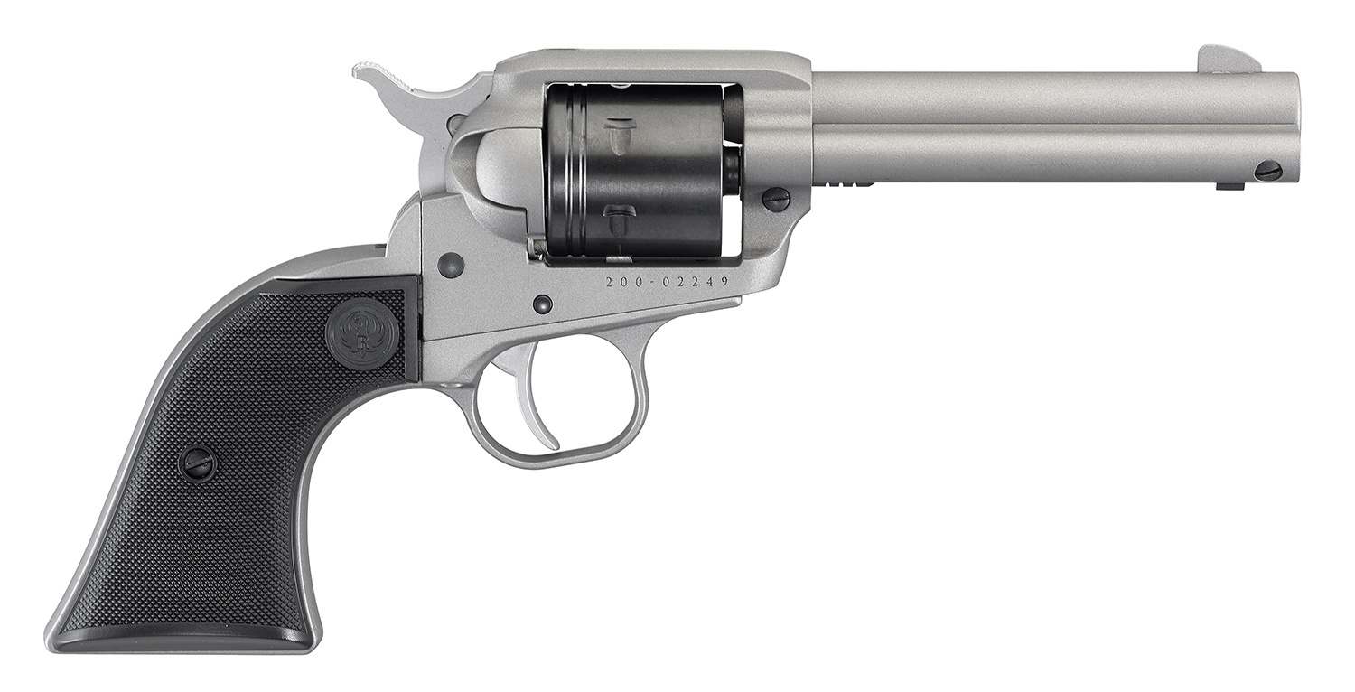 "Ruger Wrangler 22LR 4.62"" Barrel Silver Cerakote 6 Round Single Action Revolver"