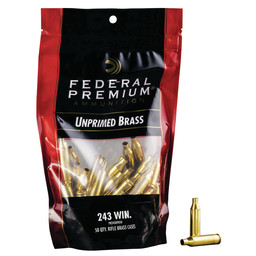 Federal Premium Federal Premium Unprimed Brass 243 Win (50-Count)