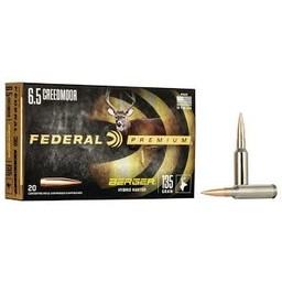 Federal Premium Federal Premium 6.5 Creedmoor, Berger Hybrid Hunter, 135 Grain