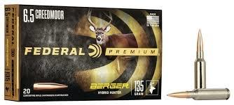 Federal Premium Federal Premium 6.5 Creedmoor Berger Hybrid Hunter 135