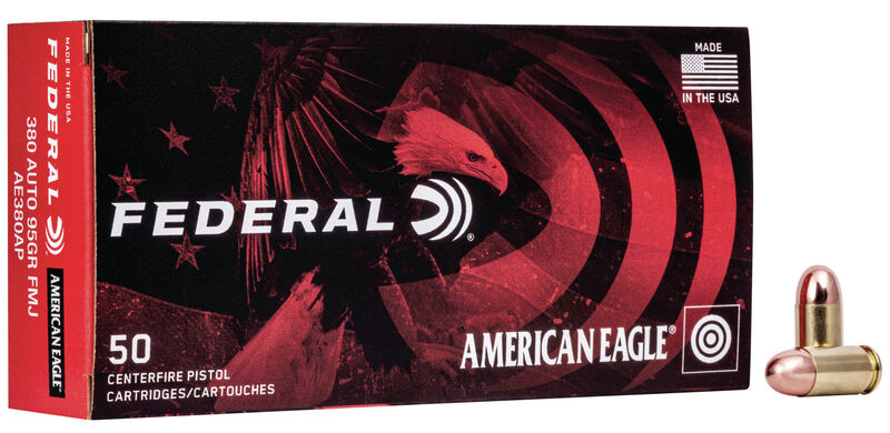 American Eagle American Eagle Handgun .380 Auto Full Metal Jacket 95 Grain (50 Rounds)