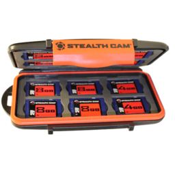 Stealth Cam Stealth Cam Memory Card Storage Case w/ Bonus 4 8GB SD Cards
