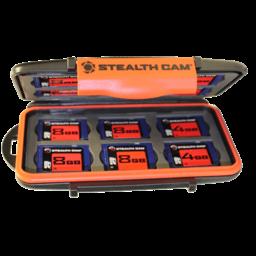Stealth Cam Stealth Cam Memory Card Storage Case w/ Bonus 4 8GB SD Cards