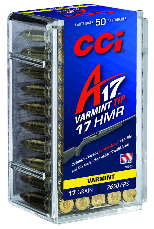 CCI CCI 17 HMR Varmint A17 Optimized 17 Grain