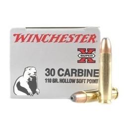 Winchester Winchester Super X 30 Carbine, 110 Grain, Hollow Soft Point