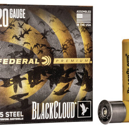 "Federal Premium Federal Premium Black cloud 20 Gauge 3"" #4 Steel 1350 FPS (25 Rounds)"