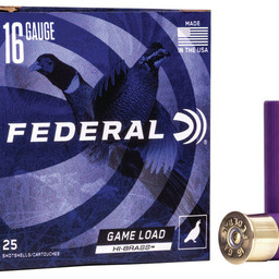 "Federal Federal Game Load Hi-Brass 16 Gauge 2 3/4"" (25 Rounds)"