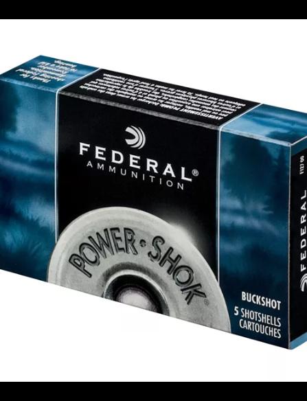 Federal Federal Power-Shok Buckshot Maximum 12 Gauge 2 3/4 (5 Rounds)