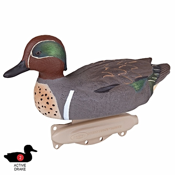 Flambeau Outdoors Flambeau Storm Front 2 Green Wing Teal Floaters (6-Pack)
