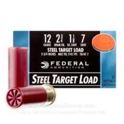 """Federal Federal Top Gun 12 Gauge 2 3/4"""" #7 Steel Target Load (25 Rounds)"""