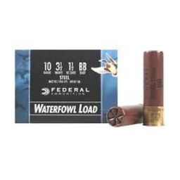 "Federal Federal 10 Gauge 3 1/2"" BB Steel (25 Rounds)"
