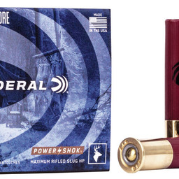 "Federal Federal Power-Shok .410 Gauge 2 1/2"" Maximum Rifled Hollow Point Slug 1/4 oz"