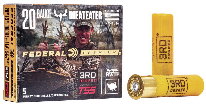 "Federal Premium Federal Premium 3rd Degree Turkey Load 5-6-7 Mixed Shot 20 Gauge 3"" Shot #5-6-7 Mix 1 1/2oz"