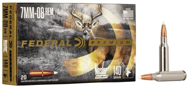 Federal Premium Federal Premium Vital-Shok  7mm-08 Rem Nosler Partition (20 Rounds) 140 Grain