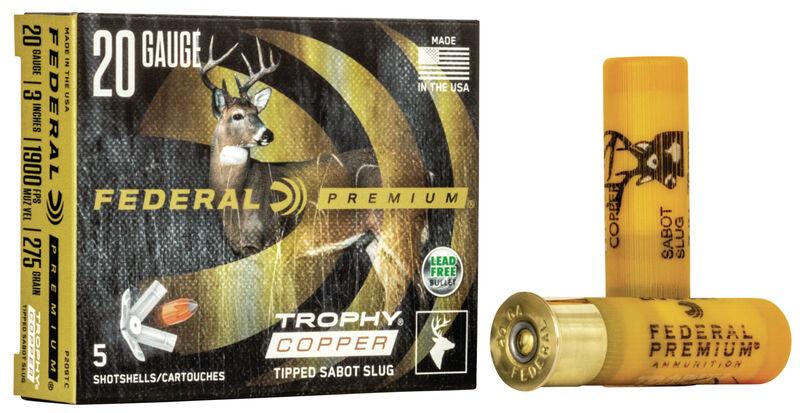 Federal Premium Federal Premium Vital-Shok 20 Gauge Trophy Copper Sabot Slugs  275 Grain (5 Rounds)