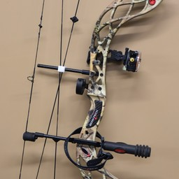 """UB-264 USED Bowtech Carbon Knight Compound Bow 29"""" Draw 60# Draw w/ Trophy Ridge 3-Pin Vertical Sight Octane Stabilizer LH"""