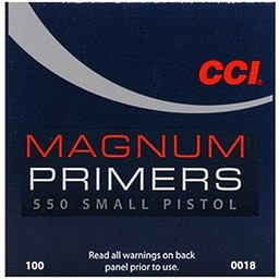CCI CCI Magnum Small Pistol Primers No. 550 (100 Count)