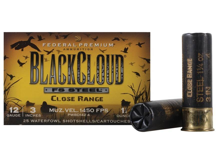 Federal Premium Federal Premium Black Cloud FS Steel Close Range
